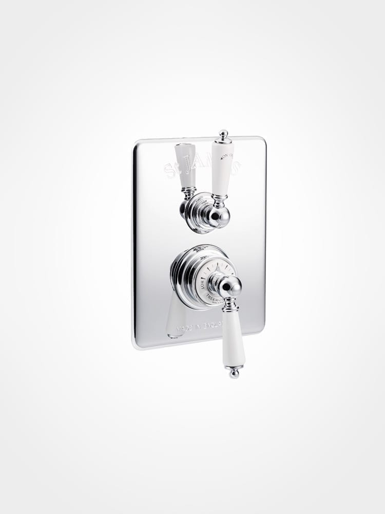 St James concealed thermostatic shower mixer - lever collection - Home