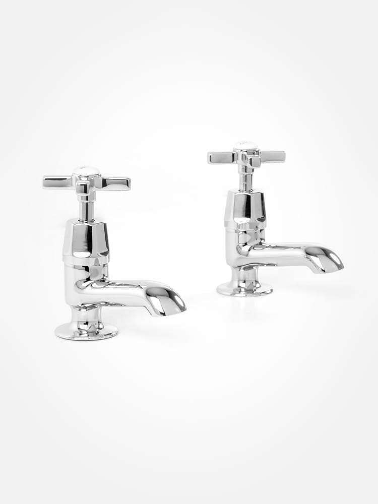 Britannia bath pillar taps art deco style