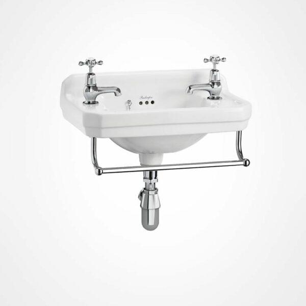 Burlington cloakroom basin with towel rail