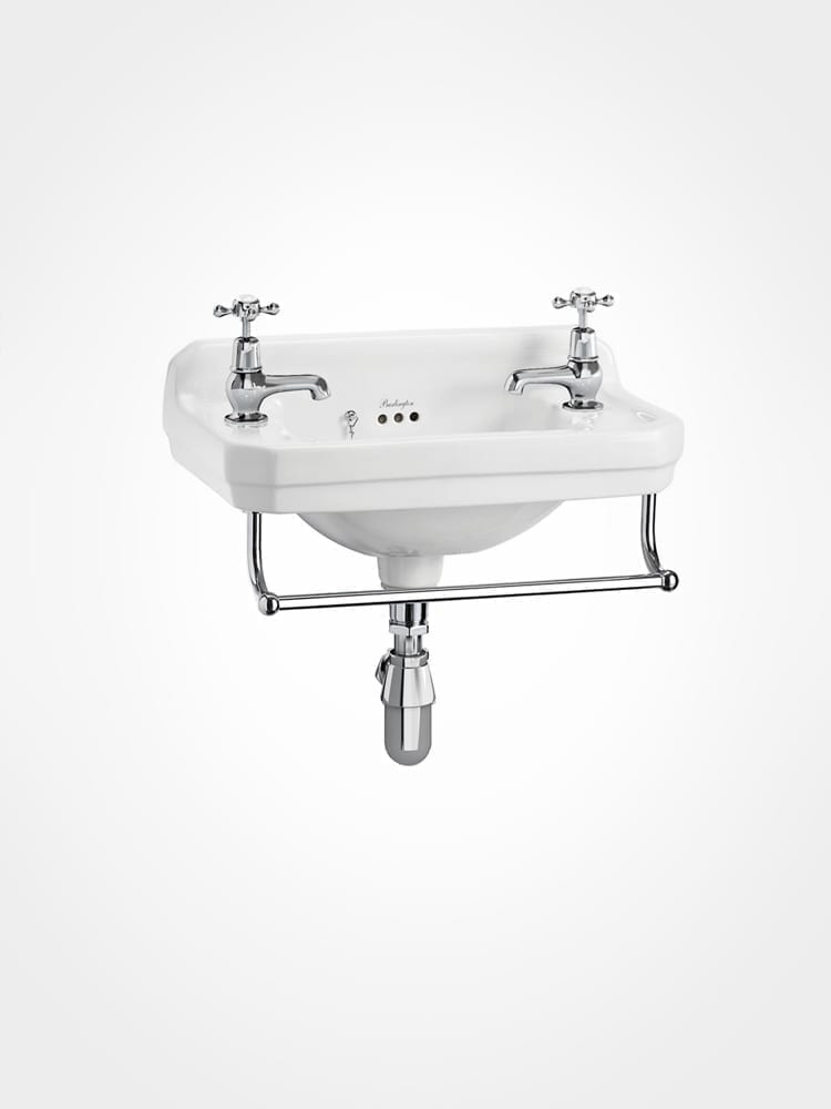 Burlington cloakroom basin with towel rail