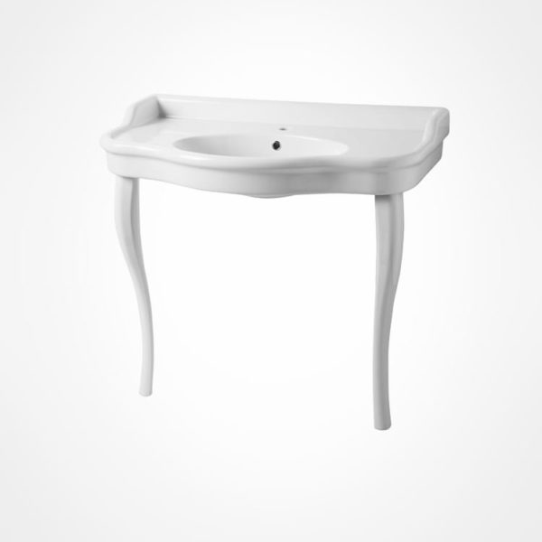 Curved Basin console with legs