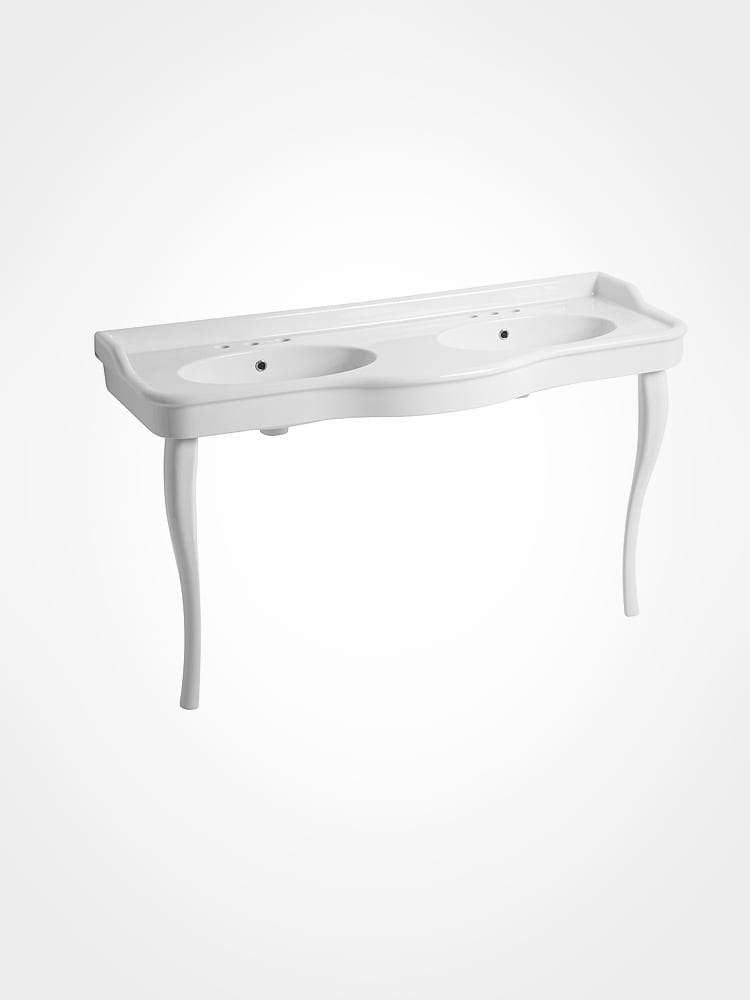 Curved Double Basin with legs
