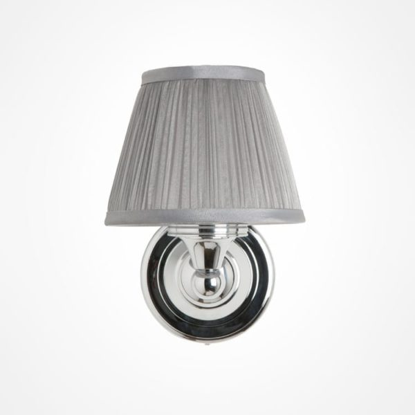 burlington wall light with silver shade