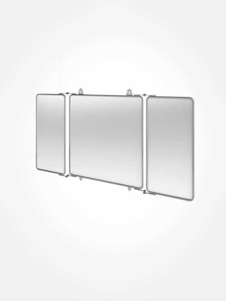 Arcade trifold mirror, chrome frame - VICTORIAN BATHROOMS