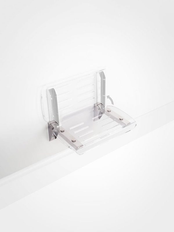 fold up perspex shower seat