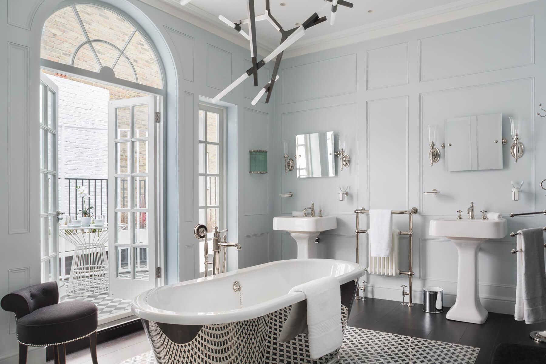 Trafalgar heated towel rail Victorian Bathrooms