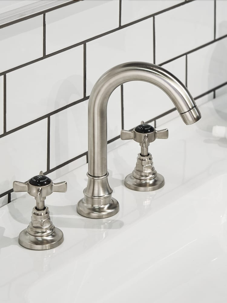 brushed nickel taps and spout