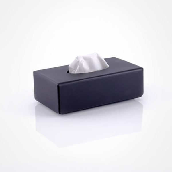 matte black tissue holder - perspex