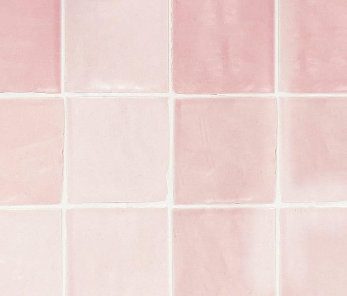 pink hand crafted tiles veelvlak