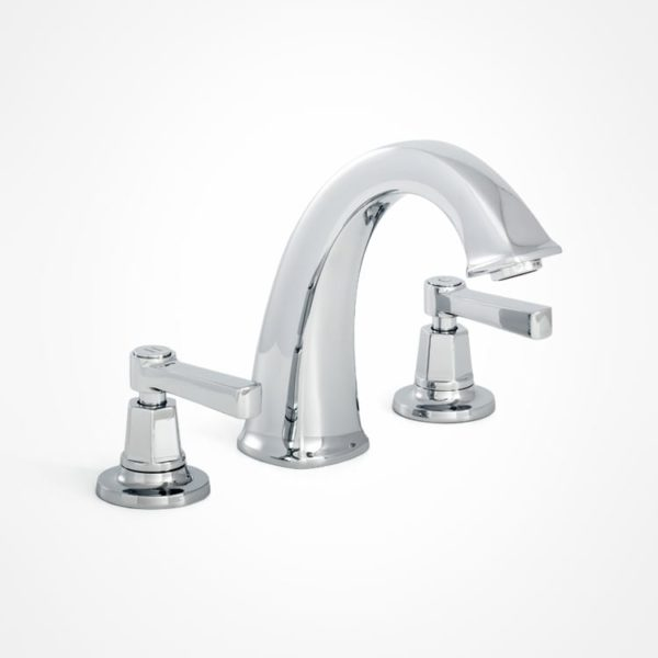 arté 3 hole modern bath mixer with levers