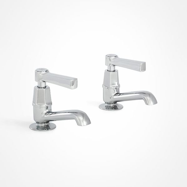 arté modern basin pillar taps with square lever