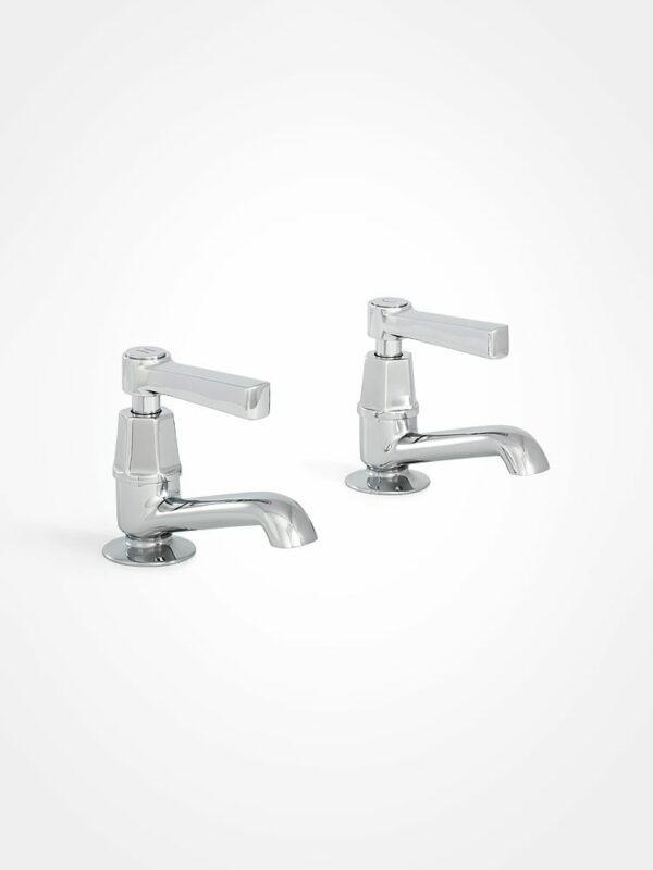 arté modern basin pillar taps with square lever