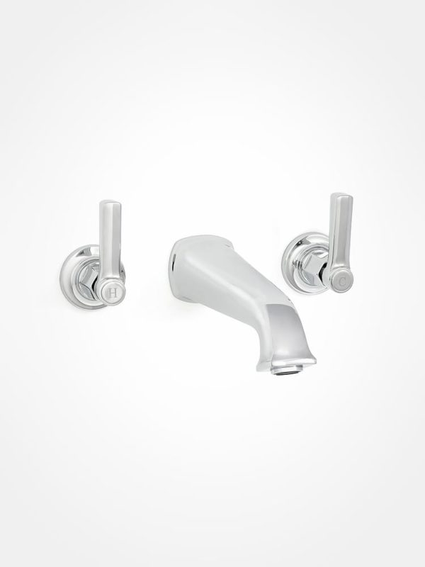 arté modern basin and basin mixer with square levers