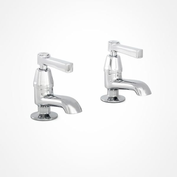 arté modern pillar tap for bath with square levers